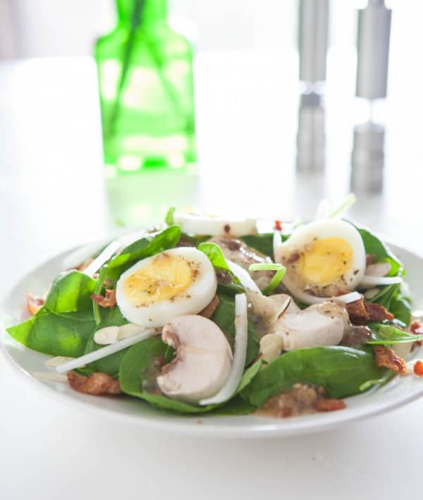Bacon Egg and Spinach Salad Recipe