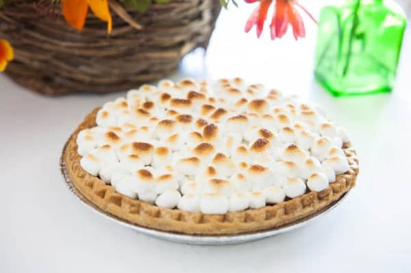 Sweet Potato Pie with Marshmallows and Spiced Cream Recipe
