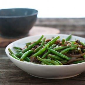 Florida Snap Beans with Caramelized onions and Mushrooms 2