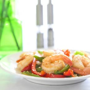 Florida Gulf Shrimp and Sweet Pepper Stir-Fry 1