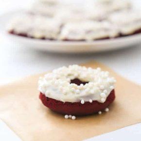 Baked Red Velvet Cream Cheese Donuts 1