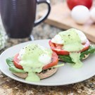 Eggs Benedict with Spinach, Tomato and Avocado Hollandaise @EclecticEveryday