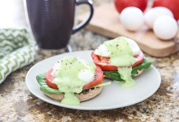 eggs benedict with vegetables