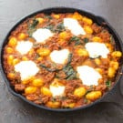 Skillet Gnocchi With Italian Sausage and Spinach @EclecticEveryday