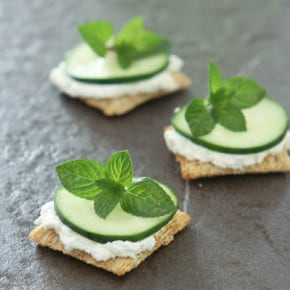 Cucumber Cream Cheese and Mint Triscuit Crackers 4