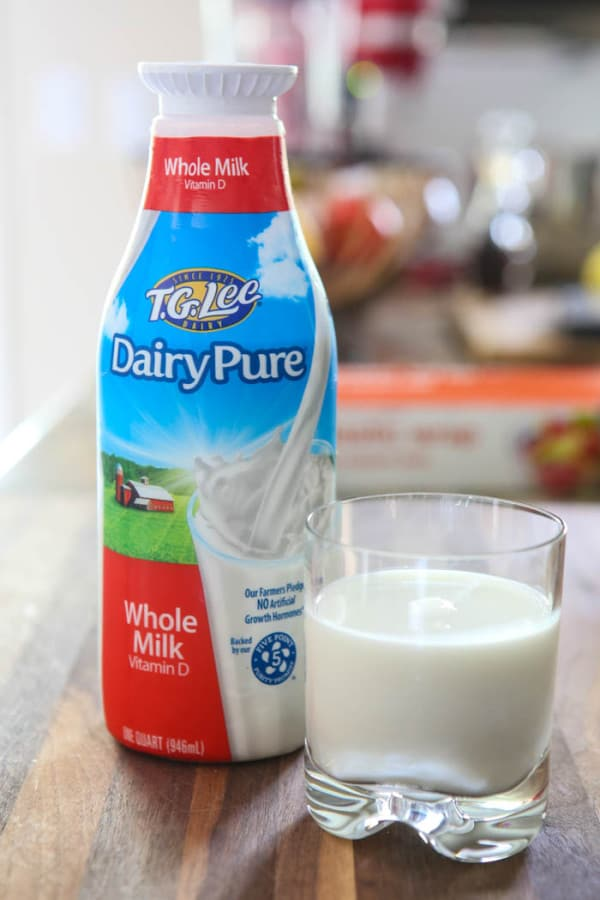 milk in carton and glass