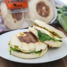 Prosciutto and Basil Pesto English Muffin Panini 1