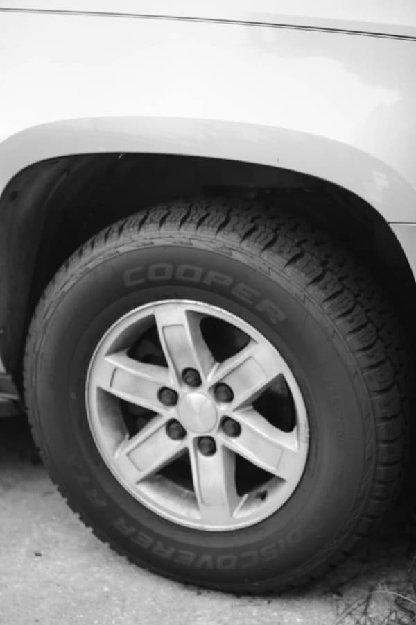 cooper tire on truck