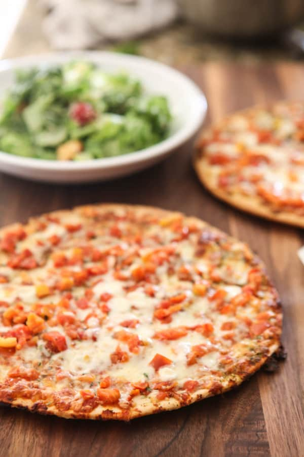 california pizza kitchen branded pizzas with salad