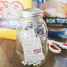Have Fun Saving Box Tops with a Mason Jar Bank @EclecticEveryday