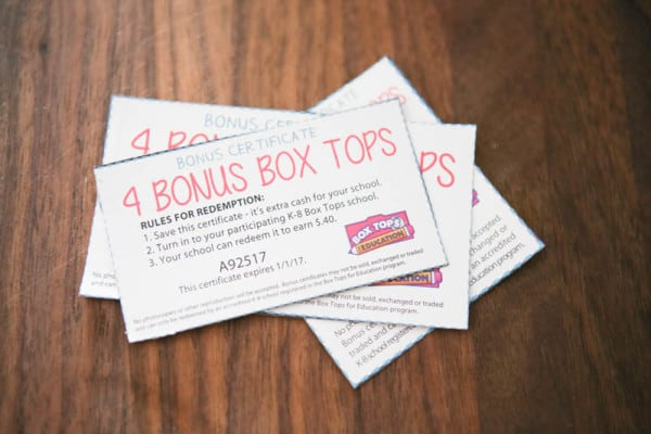 4 bonus box tops