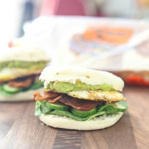 Bacon, Avocado and Egg English Muffin Sandwich 3