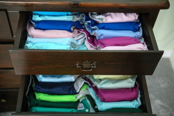 diapers in drawers