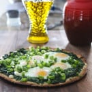 Spinach and Egg Pizza @EclecticEveryday