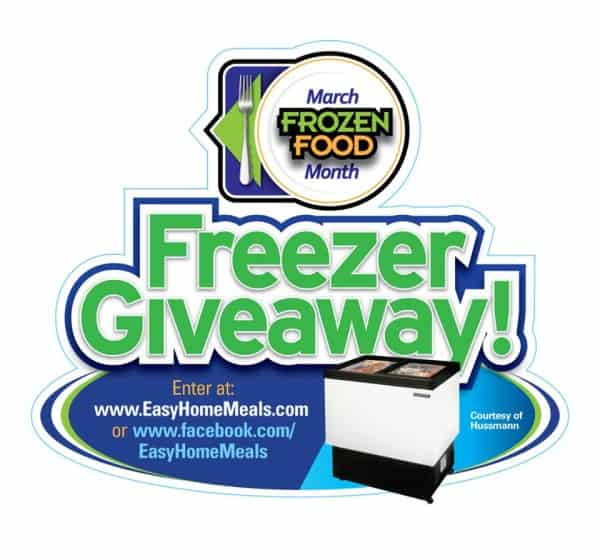 march frozen food month freezer giveaway
