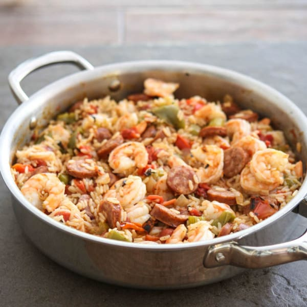 jambalaya in wold cookware