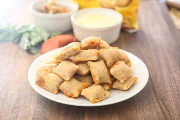 pizza rolls on plate