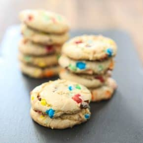 M&M Funfetti Cookies @EclecticEveryday
