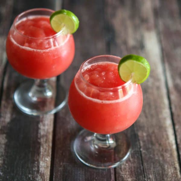 watermelon slush in glasses