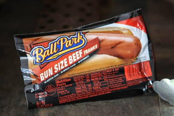 ball park hot dogs
