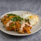 Jalapeño Potato Latkes with Chipotle Cream and Fried Eggs @EclecticEveryday