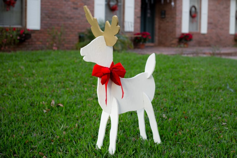 Eclectic Recipes Christmas Reindeer And Angel Wooden Yard