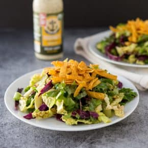 BBQ Ranch Chopped Salad @EclecticEveryday