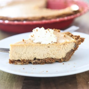Gingerbread Cheesecake Pie by Eclectic Recipes