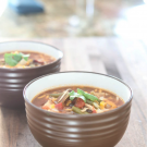 Slow Cooker Chicken Taco Soup @EclecticEveryday
