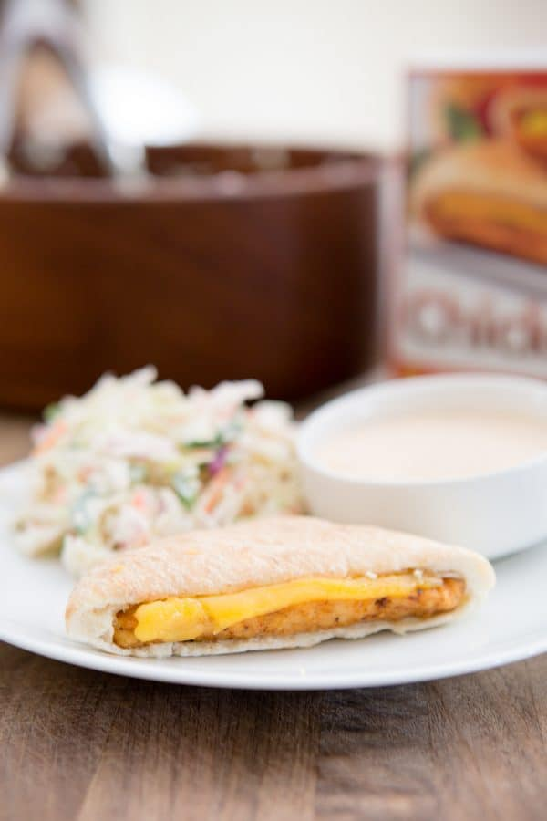 chicken melt with coleslaw