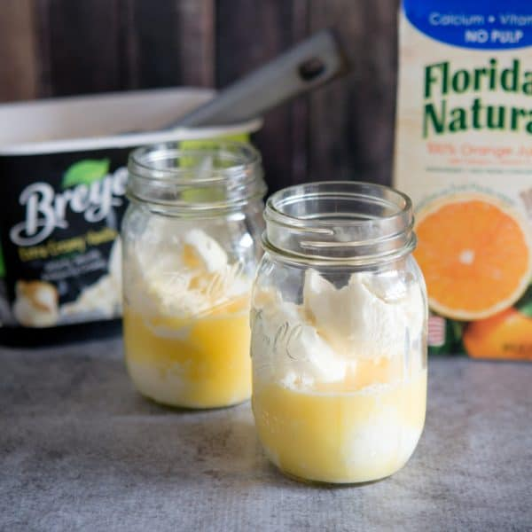 orange juice in jars
