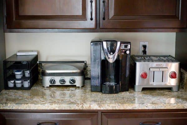 wolf toaster next to coffee brewer