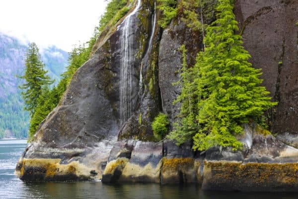 picture of gentle waterfall