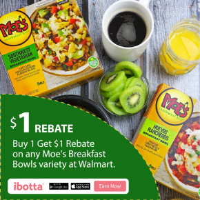 Buy 1 Get $1 Rebate on any Moes Breakfast Bowls at Walmart @EclecticEveryday
