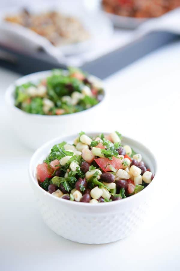 Black Bean, Corn and Kale Salad and Frontera Meals @EclecticEveryday