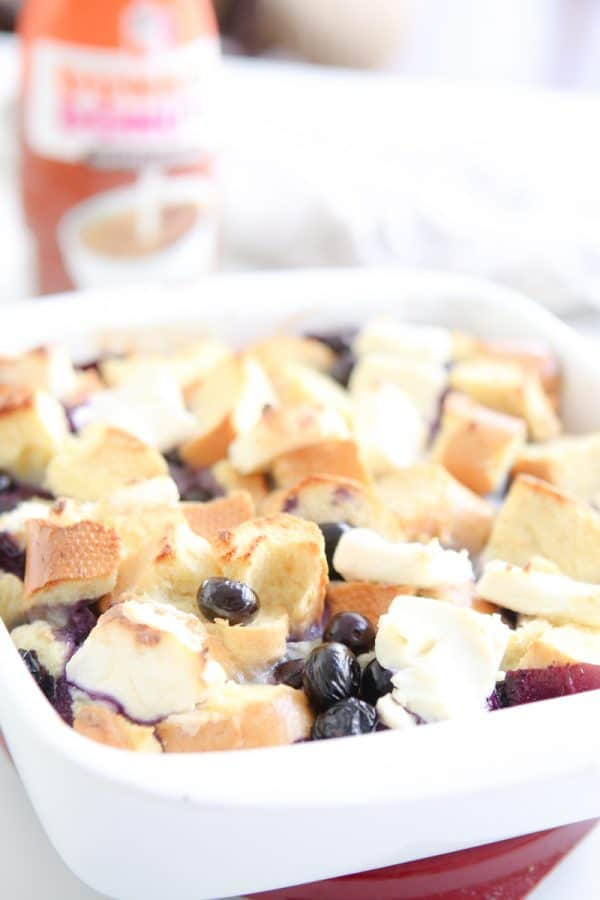 blueberry french toast with coffee creamer