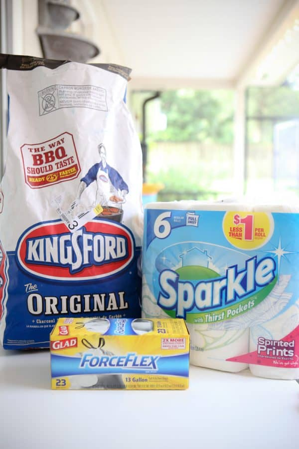 kingsford coal and paper towels