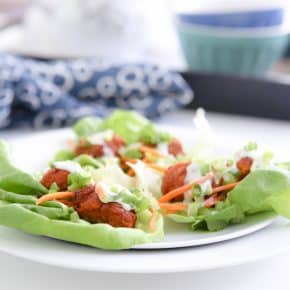 Buffalo Chicken Lettuce Wraps by Eclectic Recipes