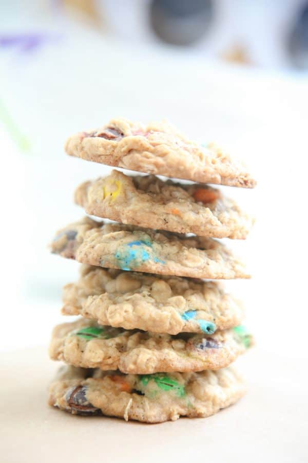 Oatmeal M&M'S® Cookies @EclecticEveryday