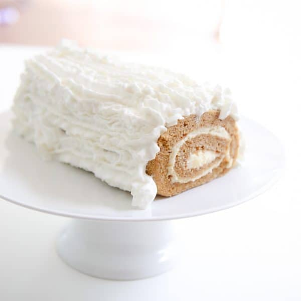 cake roll covered in reddiquette whip