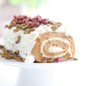 Cranberry Pistachio Pumpkin Roll by Eclectic Recipes