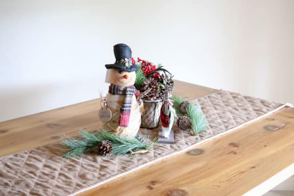 christmas decor on table