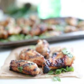 Garlic Ginger Chicken Wings by Eclectic Recipes