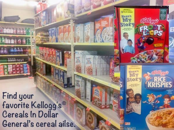 Kelloggs Partners with Dollar General for Heres My Story Campaign @EclecticEveryday