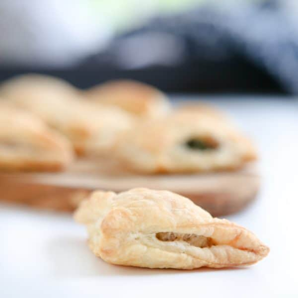 pastry turnover white background