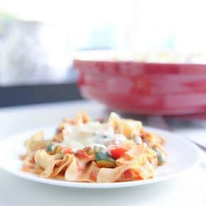 Chicken Cacciatore Noodle Bake by Eclectic Recipes