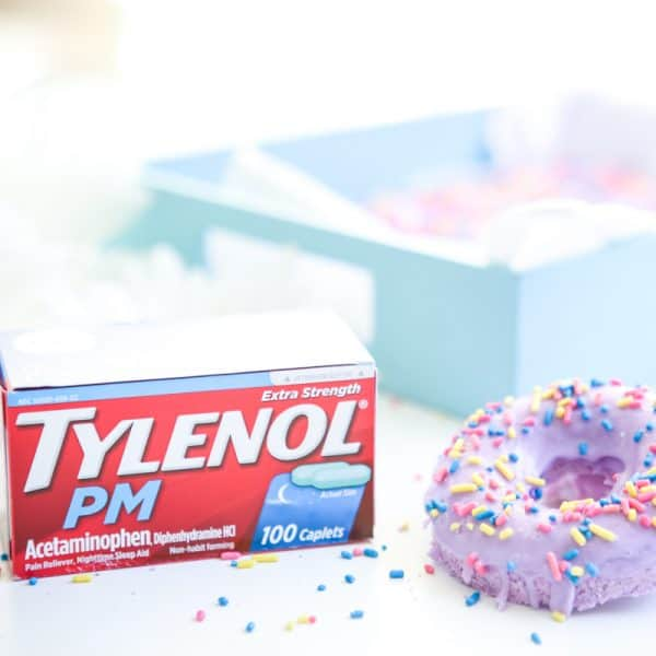 tylenol PM and bath bombs