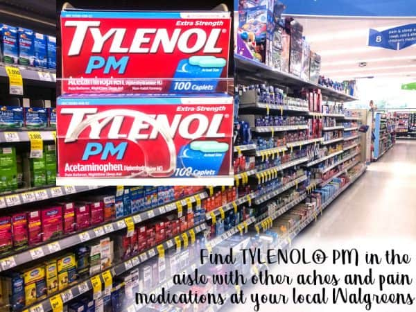 tylenol PM in store aisle