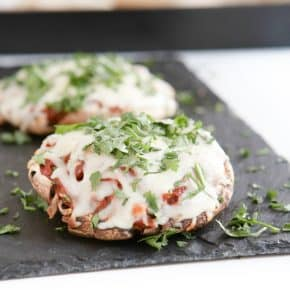 BBQ Stuffed Portobellos  by Eclectic Recipes