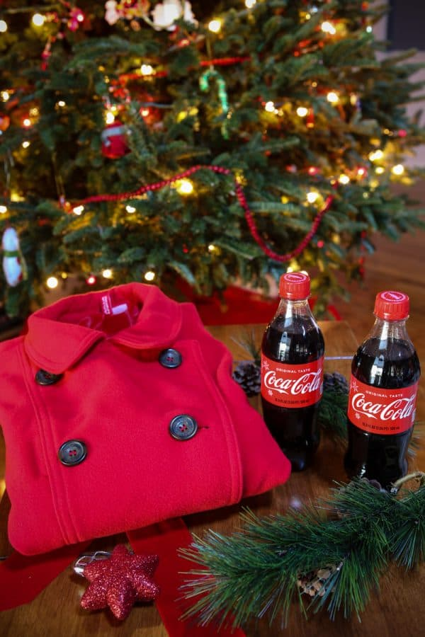 coca-cola in front of tree
